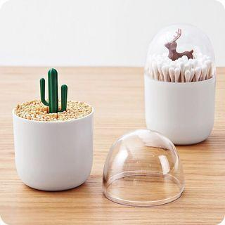 Toothpick / Cotton Bud Storage Holder Jar Container
