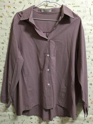🚚 (全新)浪漫紫色襯衫外套