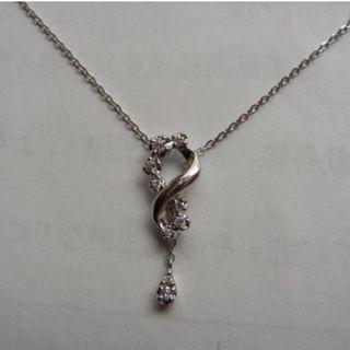 Vendome Aoyama 青山 日本高級珠寶 Pt950鉑金 天然鑽石項鍊小套鍊(原價約2萬)