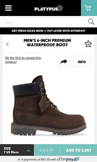 Brand new Timberland boots size 12
