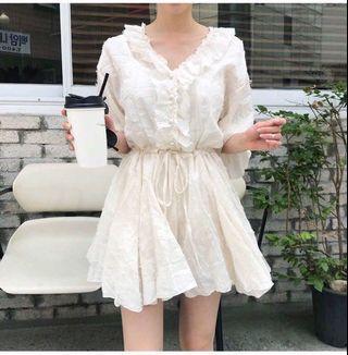 🚚 韓國抽鬚質感散裝連身褲裙