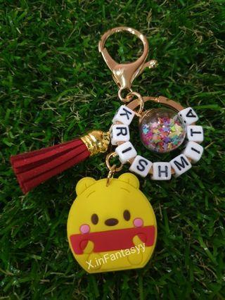 Winnie the Pooh keychain with customised name