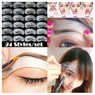 24 Styles Eyebrow Shaping Stencils Set DIY Eye Brow Drawing Guide Styling for $10.90 + Free mail postage.
