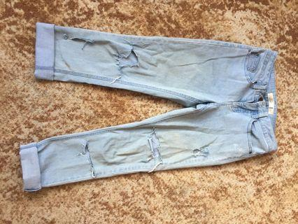 Size 8 ripped jeans