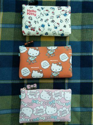 Hello Kitty 矽膠袋 化妝袋 筆袋 p+g design