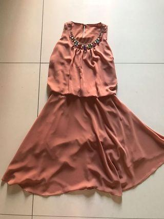 Dress Cokelat Muda