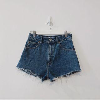 Authentic MOUSSY Classic Vintage Distressed Denim Shorts