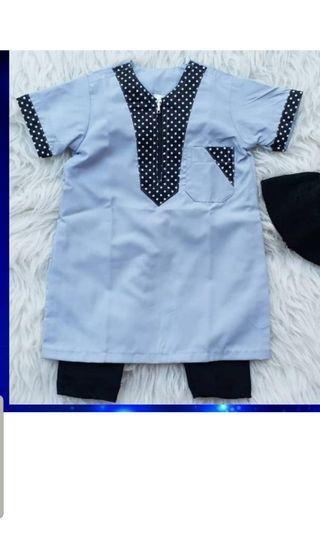 Baju kurung kurta baby boy blue 3 months
