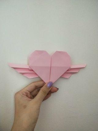 Origami winged heartshape (Large)