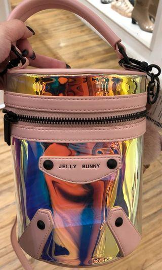 Jelly Bunny Holographic Bucket Bag