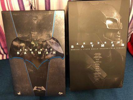 Hot toys armoured batman batman vs superman 1/6 empty box