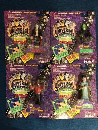 Universal studios monsters flashlight keychain set 4