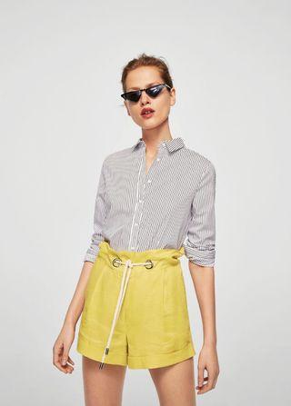 New BNWT Mango Linen Shorts #amplifyjuly35