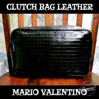 Clutch Bag Leather Mario Valentino