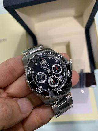 52% OFF!! New 2019 Longines Hydroconquest Chronograph Ceramic Black Dial 41mm Automatic