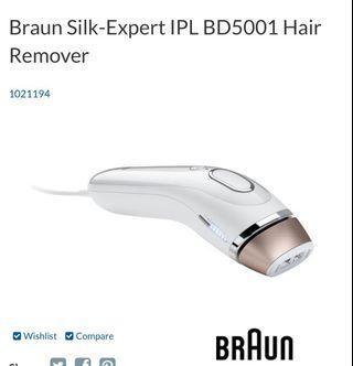 Braun Silk-Expert IPL BD5001 Permanent Hair Remover