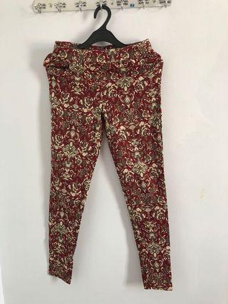 Floral Pants panjang