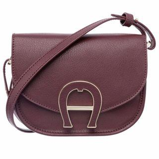 BRAND NEW AUTHENTIC Aigner Pina Leather Crossbody - Burgundy