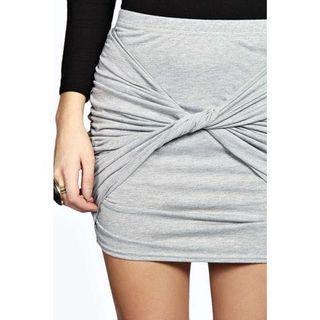 Grey wrap skirt twist