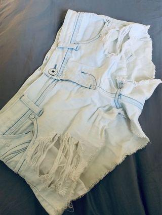 Ripped beach shorts