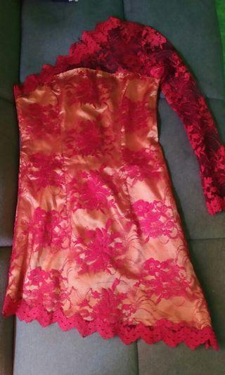 Mini dress brokat