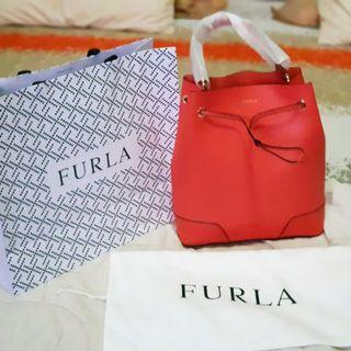 NEW Furla Stacy Drawstring bag size M