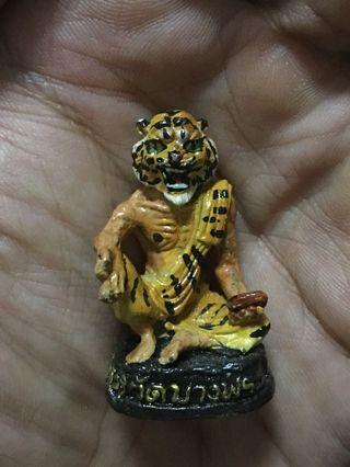 泰國佛牌 屈辦拍 約2555年 龍婆沈雁 重料 虎頭魯史小立尊 連原廟盒