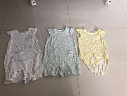 🚚 [Preloved] (3M-6M) Mothercare Bodysuits