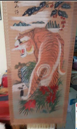 Wooden pannelled tiger scroll