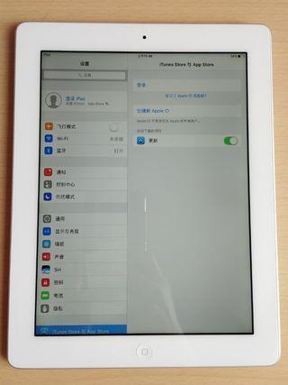 Apple IPad 4 。16GB。A1458