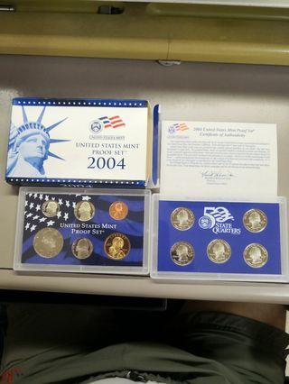 全新2004年美國精裝錢幣套裝連證書