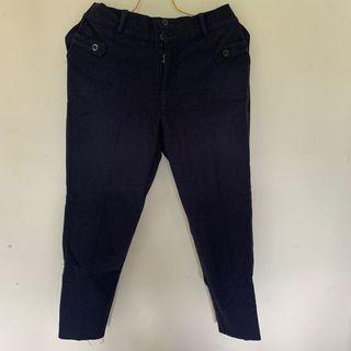 Celana Bahan Navy Blue