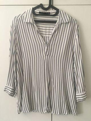 Bershka Stripes Blouse