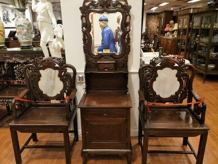 3 pcs Antique Furniture set  .