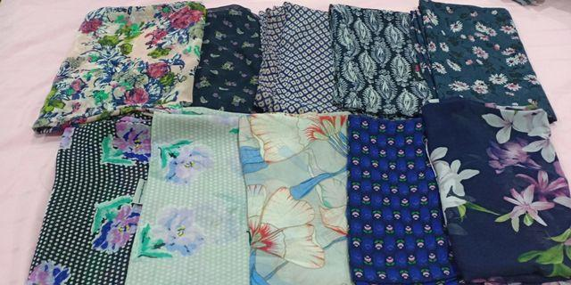 Preloved Printed Shawl Neng Geulis 10pcs for  RM 70