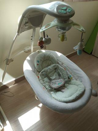 Automatic swing - baby rocking chair (music, mirror and light)