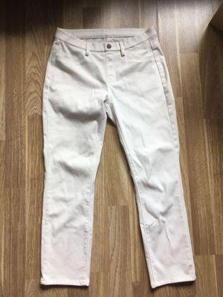 Uniqlo white pants