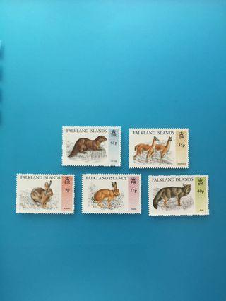 外國郵票—英屬福克蘭群島動物