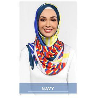 BRAND NEW 100% Authentic The Geometric DUCk Scarf In Navy