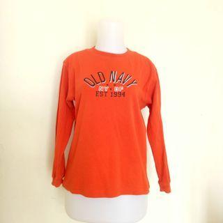 Kaos ORI Old Navy Orange Lengan Panjang