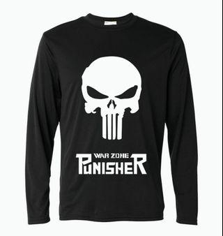 "Punisher 100% cotton long sleeve T shirt ""Gildan"" brand"