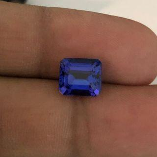 (T0-N-6/7/19) Drooling Tanzanite Block D color. Awesome Cutting, Sapphire feeling. Nice for Ring. Can customize w/Diamonds.