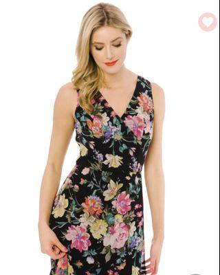 New!Review Andulusia Floral Dress, Size 8, RRP$