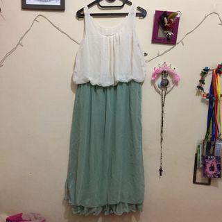 #maugopay Dress Putih Hijau Tembaang Semarang