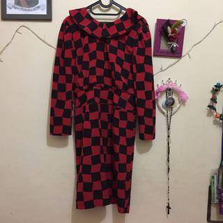 #maugopay Dress Merah Hitam