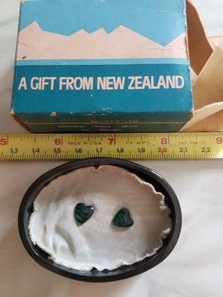 Genuine paua shell earrings from New Zealand