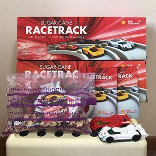 (2 SETS) Shell V Power Sugar Cane Racetrack