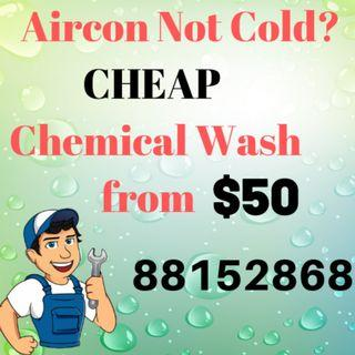 Aircon Not Cold? Cheap Chemical Wash from $50