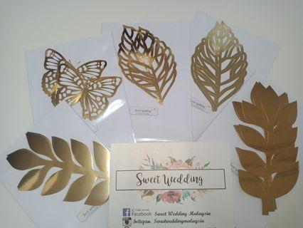 Paper flower leaf
