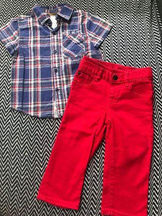 Guess Polo & Gap Pants